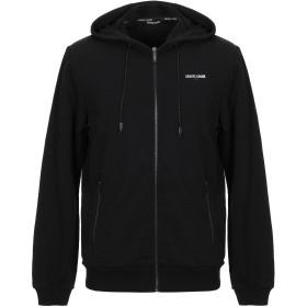 《期間限定セール開催中!》ROBERTO CAVALLI メンズ スウェットシャツ ブラック L コットン 100%