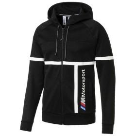 (セール)(送料無料)PUMA(プーマ)メンズスポーツウェア ジャケット BMW MMS フーデッド スウェット ジャ 57778801 メンズ プーマ ブラック