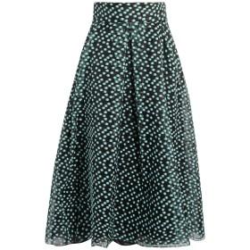 《セール開催中》LELA ROSE レディース 7分丈スカート ブラック 12 ポリエステル 77% / シルク 12% / ナイロン 11%