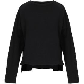 《セール開催中》SPOPA レディース スウェットシャツ ブラック S コットン 100%