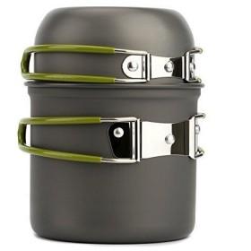 Happyハッピー耳 コッヘル キャンプ用 ピクニック用 ポータブル 便利 食器 調理器具 収納袋付き バーベキュー クッキング用品 コンパ