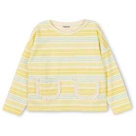【30%OFF】 ブランシェス マルチボーダー長袖Tシャツ(80~140cm) レディース レモン 120cm 【branshes】 【セール開催中】