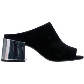 《期間限定 セール開催中》MM6 MAISON MARGIELA レディース サンダル ブラック 36 紡績繊維