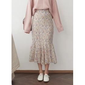 フローラルマーメイドスカート・全2色・b52714