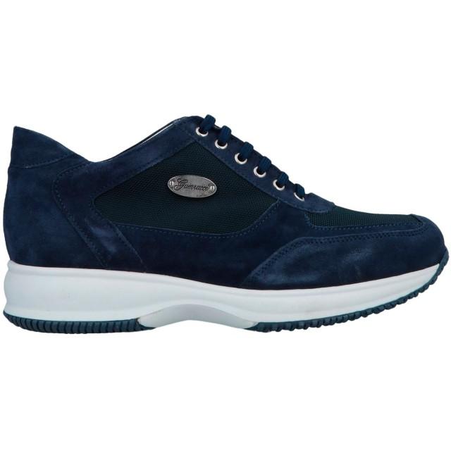 《セール開催中》GUERRUCCI メンズ スニーカー&テニスシューズ(ローカット) ダークブルー 45 革 / 紡績繊維