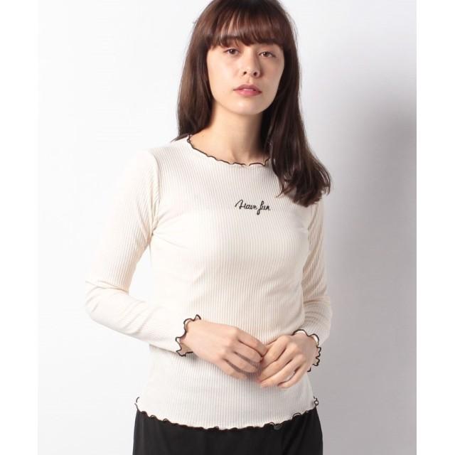【34%OFF】 レトロガール メロウロゴ刺繍カット レディース ホワイト M 【RETRO GIRL】 【セール開催中】