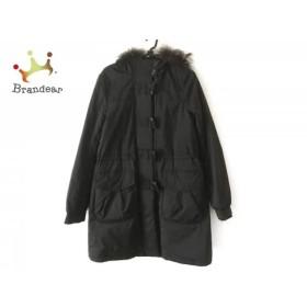コムサデモード COMME CA DU MODE コート サイズ9 M レディース 黒 中綿/冬物  値下げ 20190604