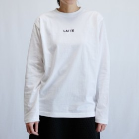 ロングスリーブTシャツ カフェラテ (ホワイト)