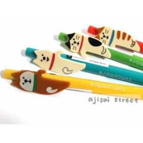 DECOLE ひょっこり ボールペン 犬 柴犬 猫 トラ猫  動物 ステーショナリー 文具 全4種