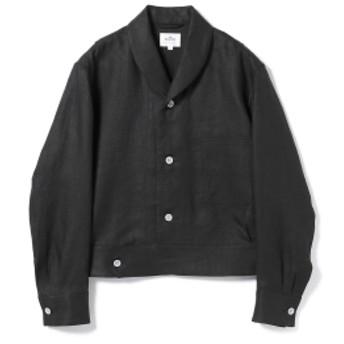 <MEN>HAVERSACK / ヘリンボーン ショールカラー ショートジャケット メンズ ブルゾン BLACK 1
