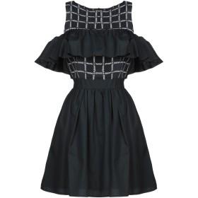 《セール開催中》ATOS LOMBARDINI レディース ミニワンピース&ドレス ブラック 40 レーヨン 70% / シルク 30% / ナイロン / ポリウレタン / ポリエステル
