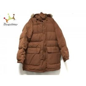 メンズビギ MEN'SBIGI ダウンジャケット サイズ48 XL メンズ ブラウン ファー/冬物  値下げ 20190603【人気】