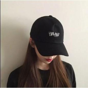 ベースボールキャップ シンプル 帽子 シンプル カジュアル 刺繍 レディース