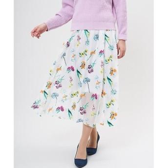 ef-de / エフデ フラワープリントスカート
