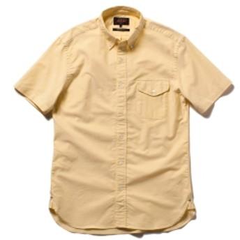 BEAMS PLUS / 半袖 ボタンダウンシャツ メンズ カジュアルシャツ YELLOW M