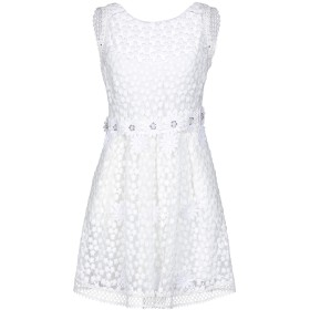 《期間限定セール開催中!》PICCIONE. PICCIONE レディース ミニワンピース&ドレス ホワイト 38 ポリエステル 100%