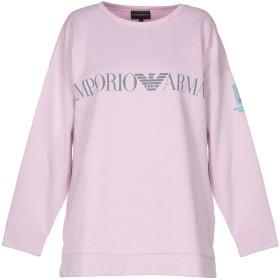 《セール開催中》EMPORIO ARMANI レディース スウェットシャツ ライトピンク 40 コットン 100%