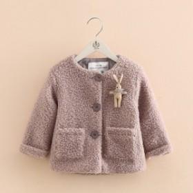 女の子 子供服 女児 キッズ 秋冬 ジャケット 上着 アウター 通園 登園 通学 登校 可愛い もこも