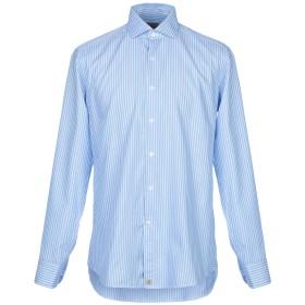 《セール開催中》SONRISA メンズ シャツ アジュールブルー 40 コットン 100%