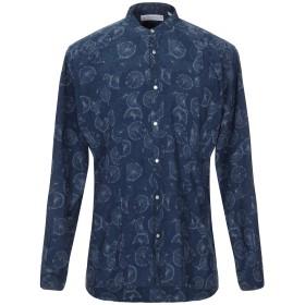 《セール開催中》POGGIANTI メンズ シャツ ブルー 38 コットン 100%