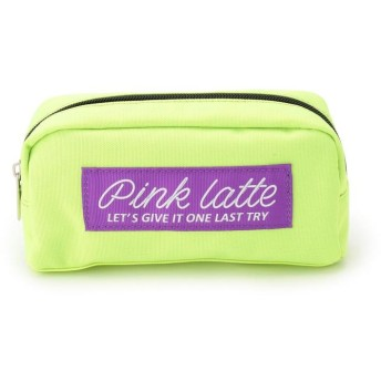 PINK-latte(ピンク ラテ) 太リボンロゴポーチ