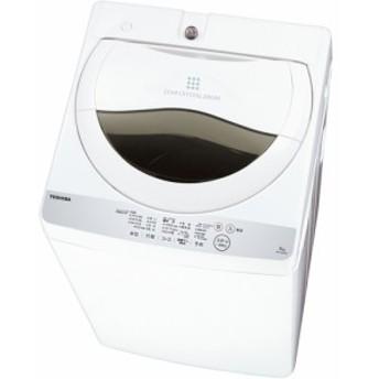 東芝 AW-5G6-W(グランホワイト) 全自動洗濯機 上開き 洗濯5kg/乾燥1.3kg
