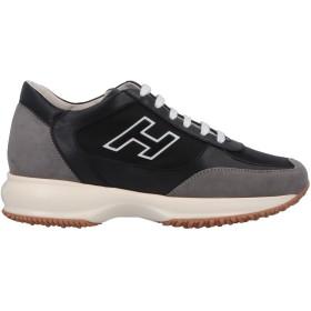 《セール開催中》HOGAN レディース スニーカー&テニスシューズ(ローカット) ブラック 39 革 / 紡績繊維
