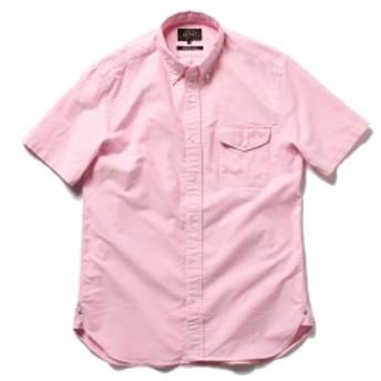 BEAMS PLUS / 半袖 ボタンダウンシャツ メンズ カジュアルシャツ PINK M