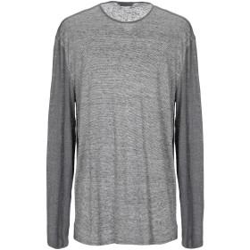 《セール開催中》JOHN VARVATOS メンズ T シャツ グレー M 麻 100%