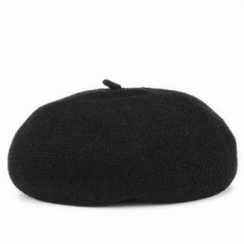 ベレー帽 春夏 レディース 帽子 メンズ ベレー チョボ付 サマーニット 夏らしい シンプルサマーベレー ブラック