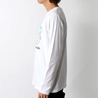 Tシャツ - MARUKAWA Tシャツ メンズ 春 ねこぶちさん プリント 長袖 ホワイト/ブラック/ネイビー M/L/LL【 猫渕さん ティーシャツNECOBUCHI-SAN ねこ ネコ かわいい クルーネック】