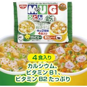日清マグうどん 4食入り(きざみきつね×2/豚カレ×2)