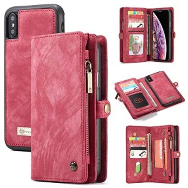 2f613c0e19 iphoneXs Max ケース 高品質 手帳型 カバー 磁石吸着 財布型 TPU 本革 レザー