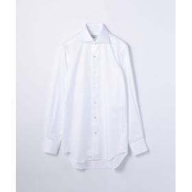 トゥモローランド 120/2フレンチツイル ワイドカラー ドレスシャツ NEW WIDE 5 メンズ 11ホワイト 43 【TOMORROWLAND】