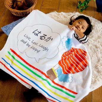 出産祝い 名入れブランケット・手描き風の気球