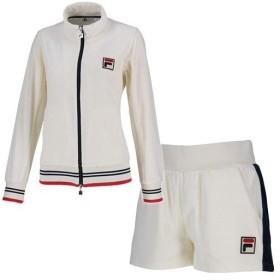 89991f1b76022 フィラ(FILA) レディース テニス ベロア トラックジャケット & ベロア ショートパンツ 上下セット フィラ