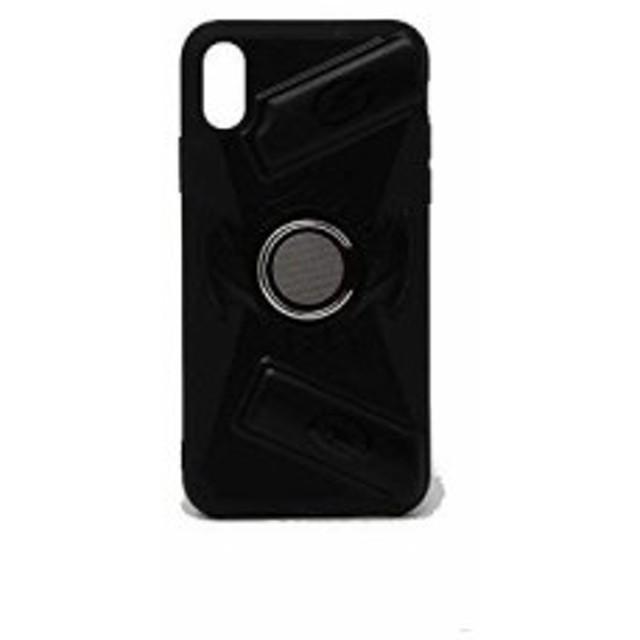 4a9004a826 バンカー リング 付き ゲームスタンド ケース iPhone XS MAX ゲームホルダー 背面ケース スタンド グリップ PUBG