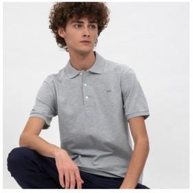 ラコステ スリムフィットポロシャツ (半袖) メンズ グレー 4(日本サイズL) 【LACOSTE】