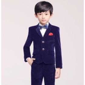 ベルベットスーツ 7点セット 110~160 フォーマル キッズスーツ 男の子 子供スーツ ピアノ ジュニア 男児 卒園式 演奏会 上品 発表会