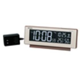 SEIKO セイコー クロック 交流式デジタル(カラーLED表示) 電波目覚まし時計 DL211B