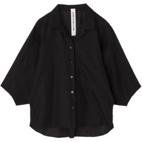 【6,000円(税込)以上のお買物で全国送料無料。】開襟袖タックブラウス