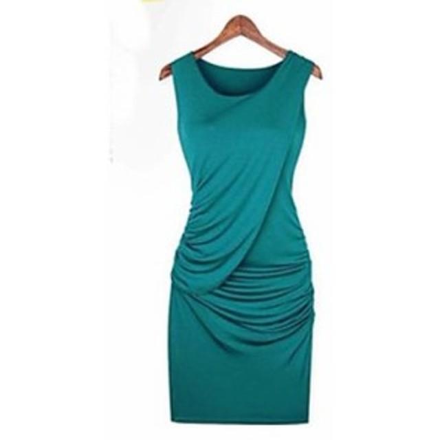 ドレス ミニ フォーマル スリム シンプル パーティー 無地 セクシー 上品 レディース 女性 ブラウン 黒 グリーン