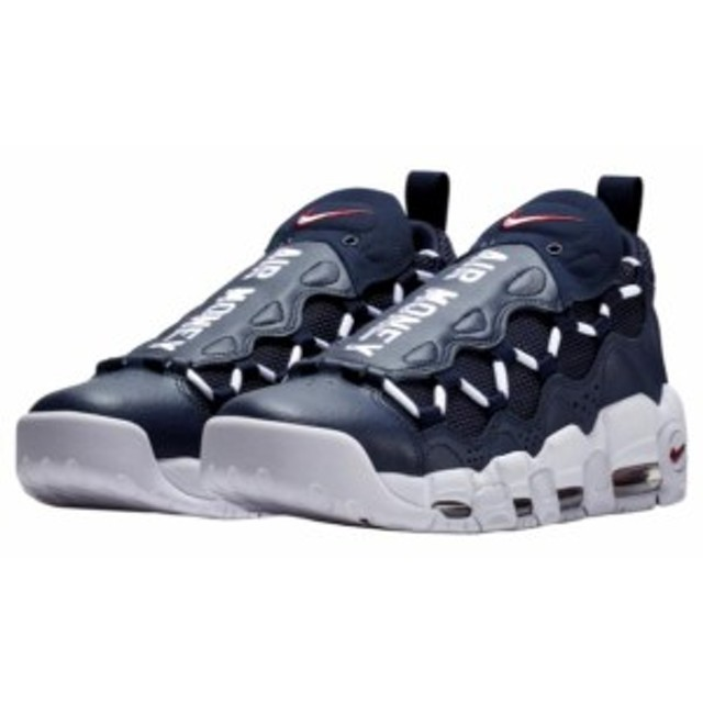online retailer a5375 82aa6 ナイキ メンズ スニーカー Nike Air More Money エア モアマネー Obsidian White Gym Red