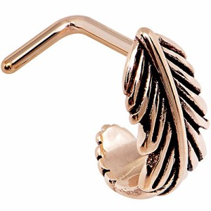 Body Candy Steel Feather Seamless Circular Ring 18 Gauge and 20 Gauge