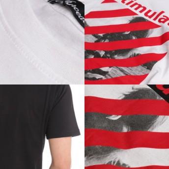 Tシャツ - Style Block MEN Tシャツ カットソー 半袖 クルーネック 丸首 半袖Tシャツ フォトプリント ロゴT 綿 コットン100% トップス メンズホワイトA ホワイトB ブラック 春先行