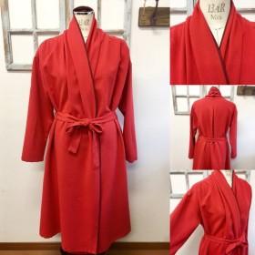 セール価格★大人の赤 ️赤×エンジのバイカラーロングジャケット レッド(サイズフリーL L L)