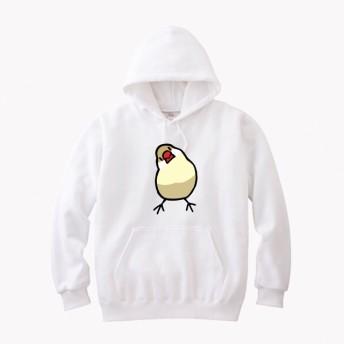 文鳥スウェットパーカー 「かしげる文鳥」カラー 【受注生産】