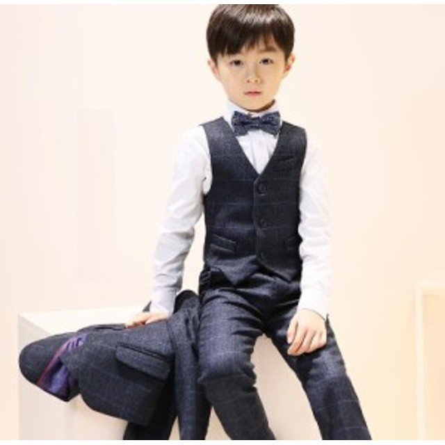 e31fca30edd6a 6点セット 子供スーツ 格好いい フォーマル キッズスーツ ジュニア 男児 卒園式 宴会 発表