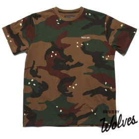 【RAISED BY WOLVES/レイズドバイウルブス】FUCK OFF. T-SHIRT Tシャツ / CAM