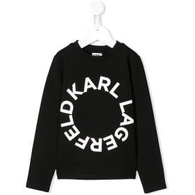 Karl Lagerfeld Kids ロゴ Tシャツ - ブラック